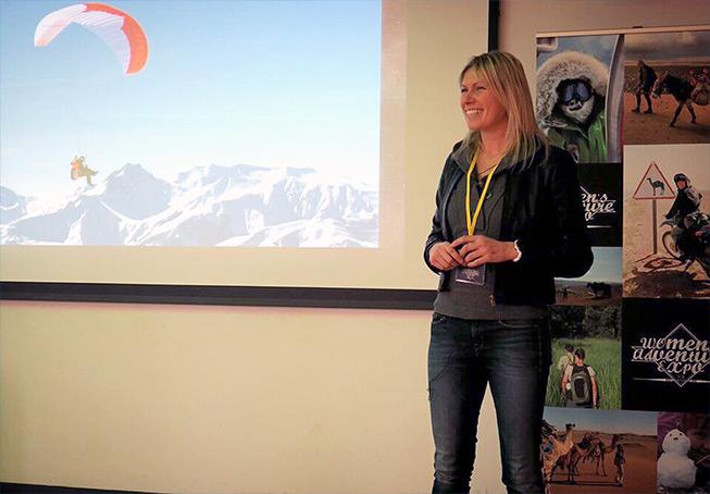 Squash giving a talk
