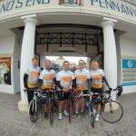 The start! Lands End with the team.
