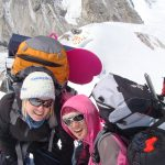 Suzy & I on Cho Oyu, you can see my bumboard
