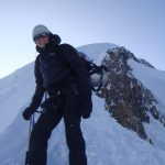 On route to the summit of Mt Blanc