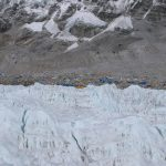 Everest Base Camp from the Khumbu Ice Fall