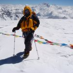 On the summit of Cho Oyu