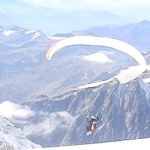 Flying from Mt Blanc
