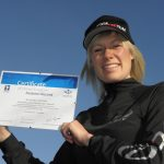 My certificate to say I am the 1st British woman to fly from the summit of Mt Blanc