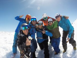 Backcountry ski touring team