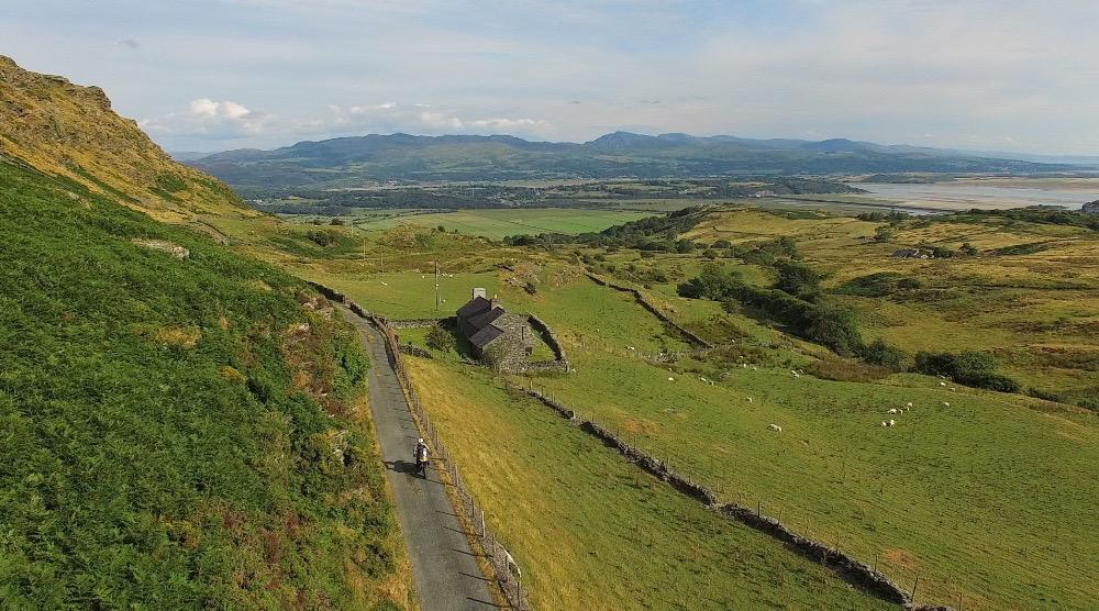 Aerial view from Cwmstradllyn